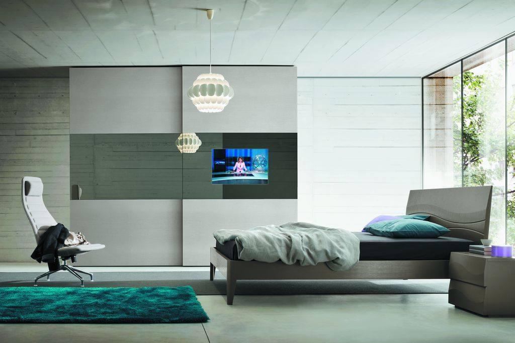ARMADIO CON INSERIMENTO TV moderno zona notte camere da letto ...
